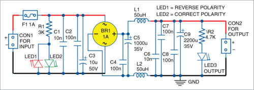 Circuit diagram of the project