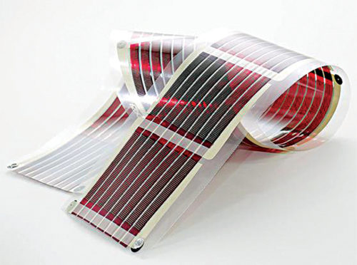 Fig. 2: Typical structure of a flexible organic solar cell