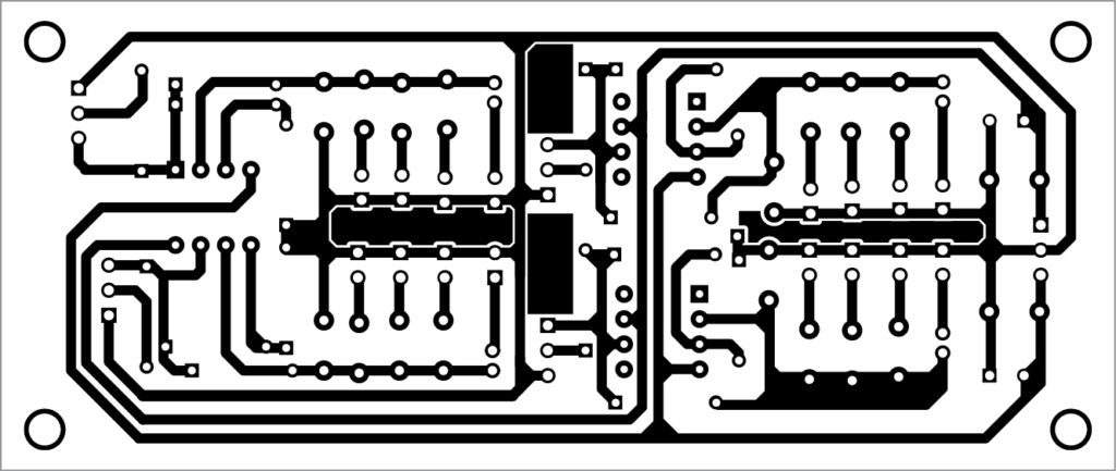 PCB layout of the simple Tester For Operational Amplifiers