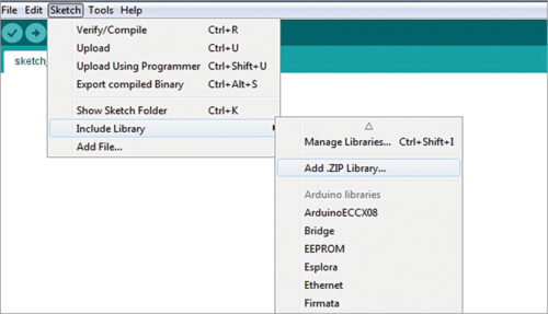 Fig. 3: Opening Library Manager
