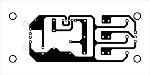 Fig. 4: Actual-size PCB layout for hydro power generation