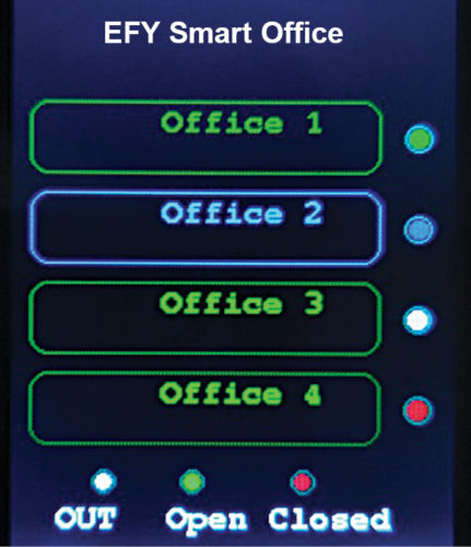 Fig. 6: Screenshot of the notification when someone is out of office room 3 of multi-doorbell system