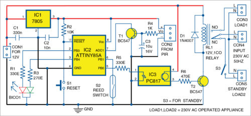 Fig. 1: Circuit diagram of the smart light