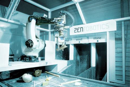 Robotics in waste recycling (Credit: https://zenrobotics.com)