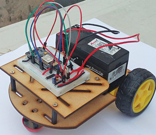 IoT robot prototype built at EFY Lab