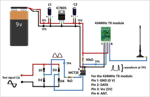 Fig. 5: Circuit diagram of the transmitter side