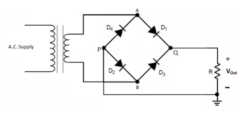Bridge full wave rectifier circuit