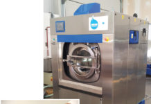 Nearly waterless washing machine (right) that uses nylon polymer beads (below) for washing thus conserving water (Credit: www.forbes.com)