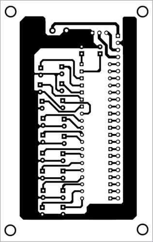 PCB layout of the LED flasher