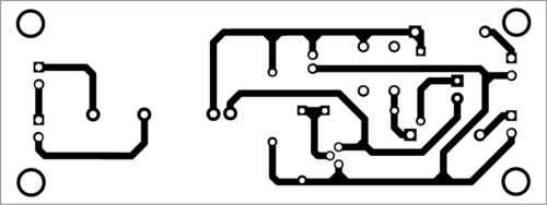 Fig. 3: Actual-size PCB layout of the solid-state relay driver