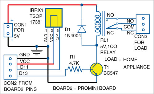 Fig. 5: Circuit diagram for home automation