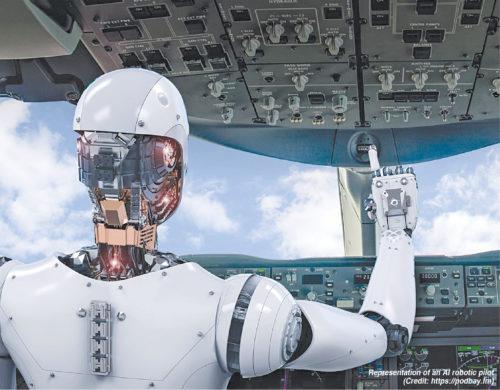 Representation of an AI robotic pilot (Credit: https://podbay.fm)