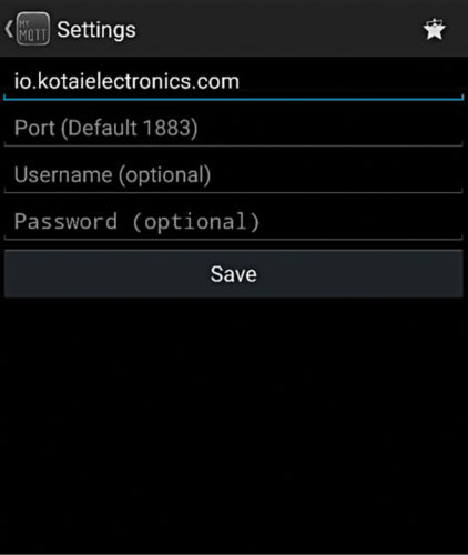 Fig. 2: Settings in Android phone1