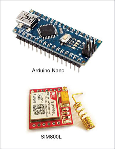 Arduino Nano board and SIM800L modem