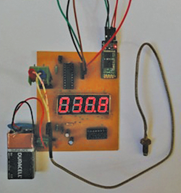 Author's prototype for Battery-Operated Portable Temperature Measurement System