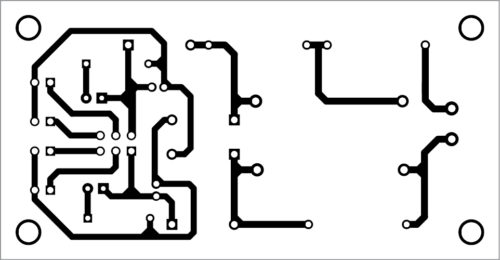 PCB layout of the rechargeable torch light