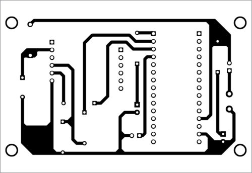PCB layout of the GSM security switch