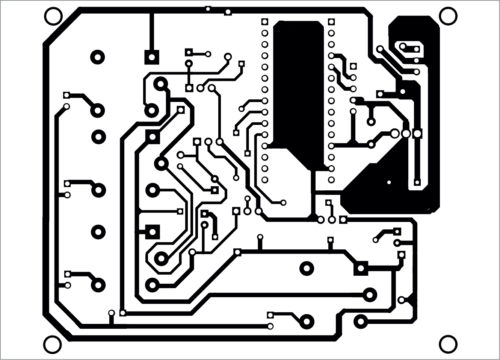 PCB layout of the joystick-controlled industrial automation system
