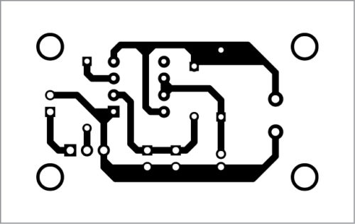 PCB layout of the touch/tilt sensor for vehicle anti-theft alert