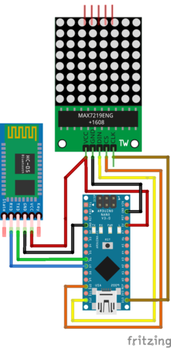 Bluetooth Based Smart Public Announcement Board connection