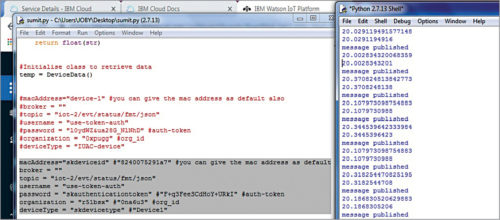 Typical example of Python program with device ID