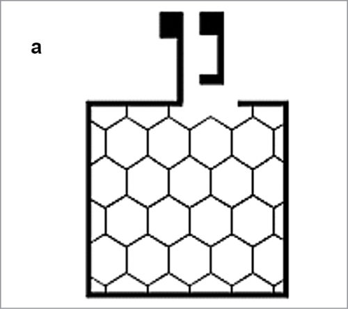 Conductive grid with honeycomb structure