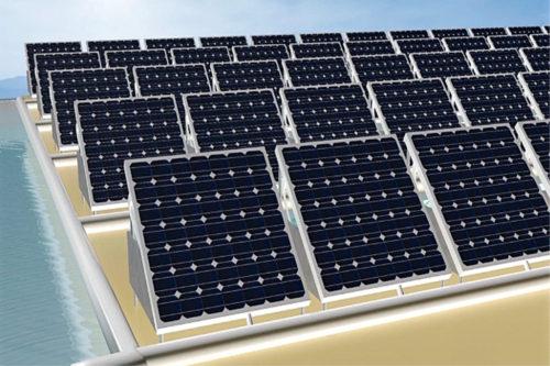Artist's impression of dual-purpose solar cells
