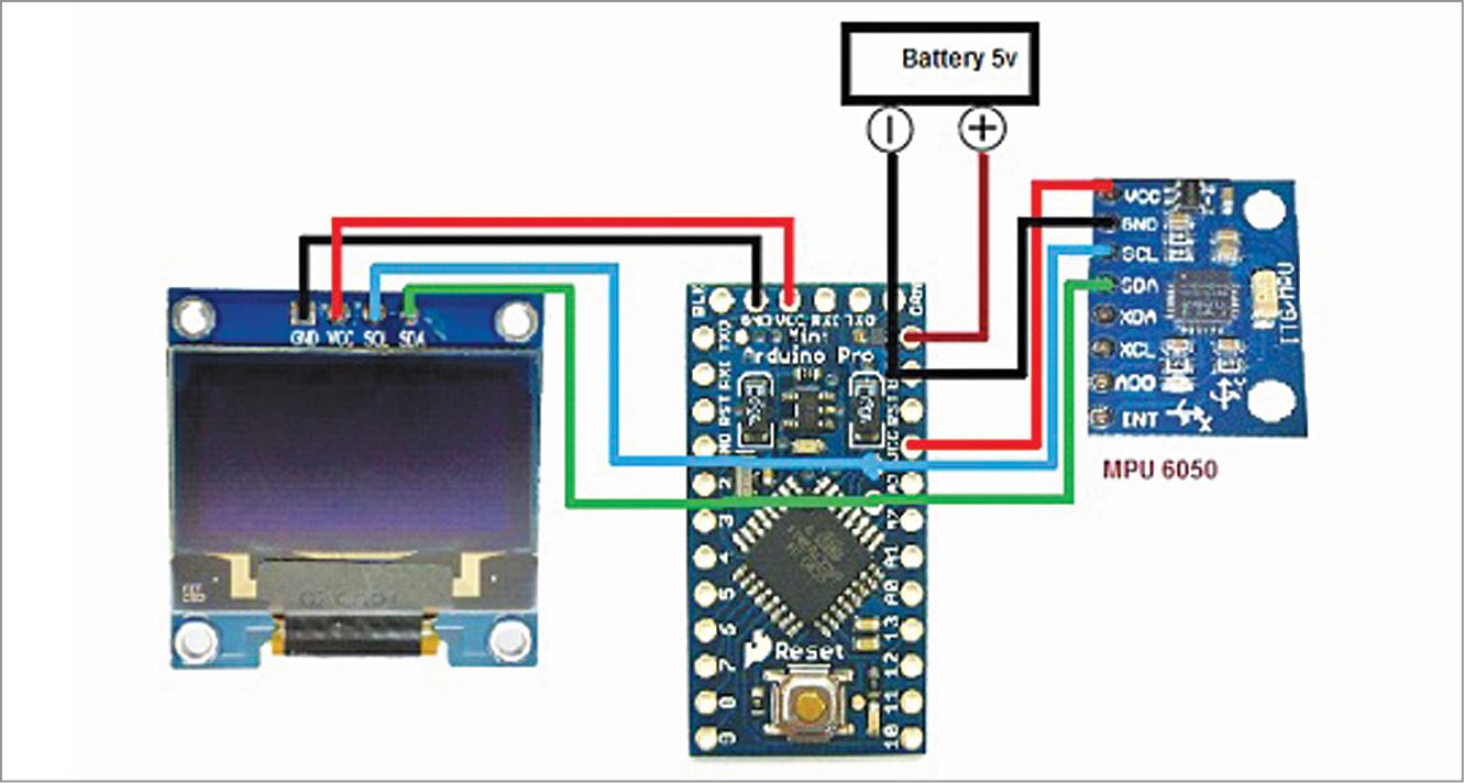 Circuit diagram of digital protractor using stepper motor