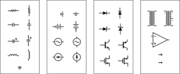 Electronics And Electrical Symbols, What Do The Symbols On A Wiring Diagram Mean