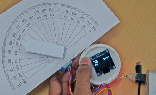 Digital protractor calibration