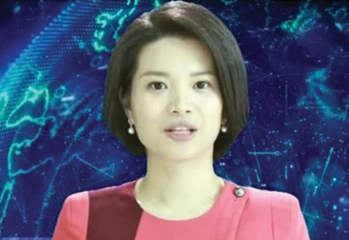 Xin Xiaomeng, the world's first female humanoid news anchor (Credit: http://en.people.cn)