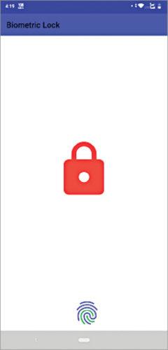 wireless biometric lock App layout