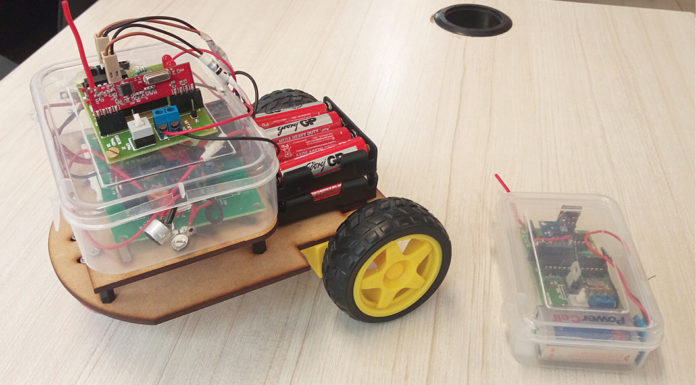 Gesture And Clap Controlled Robot