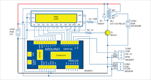 Circuit diagram of the liquid vending machine