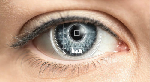 Smart contact lens displays glucose levels in real time