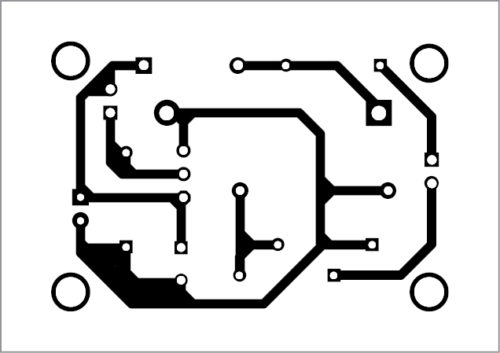 PCB layout of the nifty night lamp