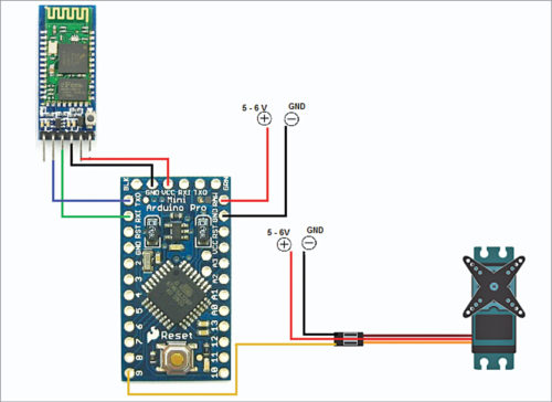Circuit connections for wireless biometric lock