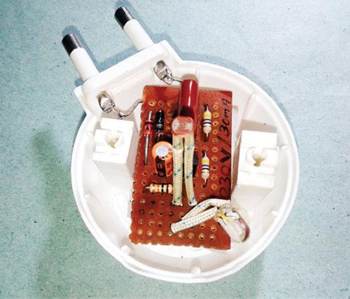 Author's prototype of Nifty Night Lamp