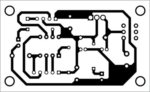 PCB layout of the transmitter unit