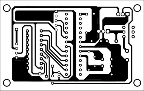 PCB layout of the gesture transmitter section