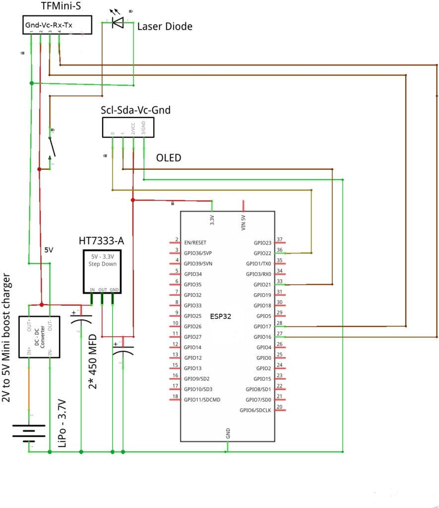 TFMini TOF laser Schematic