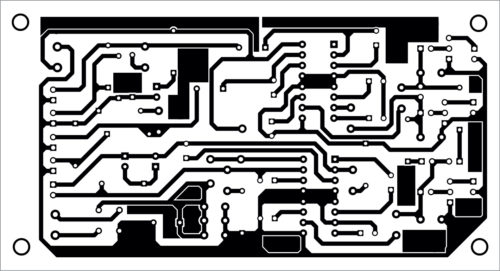 PCB layout for Three-Channel Audio Amplifier