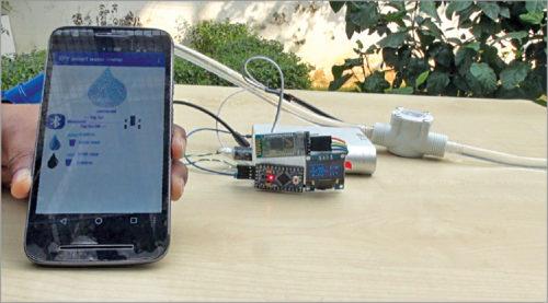 Working model of smart water meter
