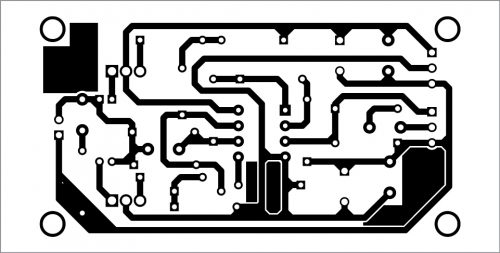 PCB layout of the universal circuit