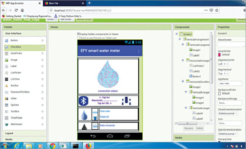 Adding components in app layout for Smart Water Meter To Help Control Water Wastage
