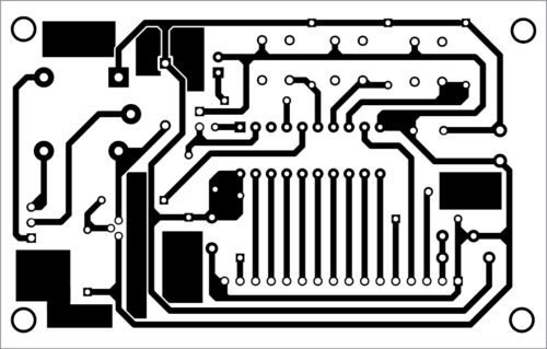 PCB layout of the password locker