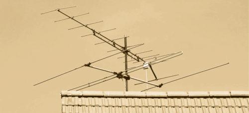 Terrestrial analogue TV Yagi antenna