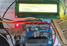 Author's prototype for Arduino based frequency generator