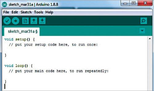 Arduino sketch window