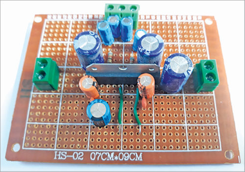 Author's prototype for Stereo Amplifier